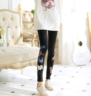 Wholesale girls cartoon leggings