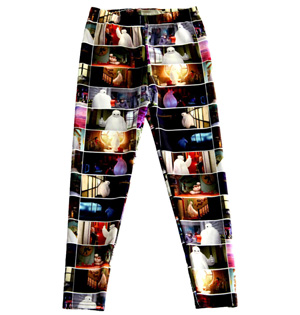 Hero cartoon kids digital leggings