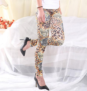 Wholesale polyester leopard leggings