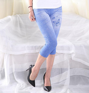 Cropped polyester leggings wholesale