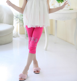 Wholesale cropped kids leggings