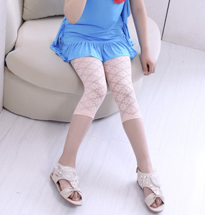 Lace cropped leggings for kids