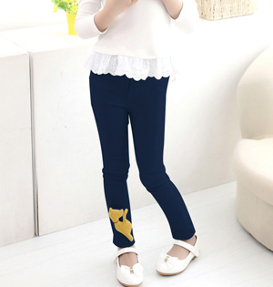 Wholesale kids denim leggings