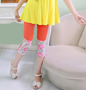 Wholesale kids lace leggings fashion
