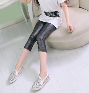 Kids leather fashion leggings