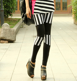 Stitch stripe leggings wholesale
