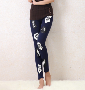 Wholesale embroidered cotton leggings