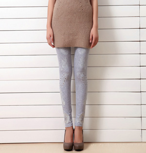 Wholesale cotton embroidered leggings