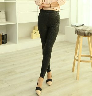 Pattern pu leather pants wholesale