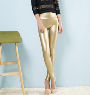 Wholesale high waist leather pants