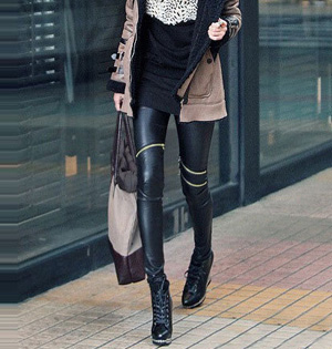 Wholesale leather leggings waist pants