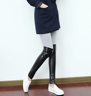 Wholesale stitching leather leggings