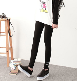 Embroidery stretchy leggings for women