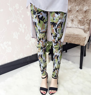 Wholesale milk silk print leggings