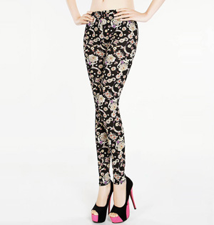 Wholesale embroidered leggings women