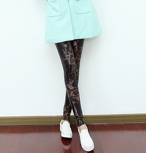 Women leather fashion leggings