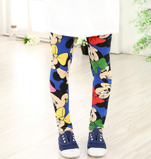 Kids milk silk print leggings wholesale