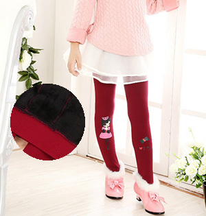Wholesale velvet kids warm leggings