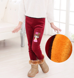 Wholesale kids stretch velvet pants