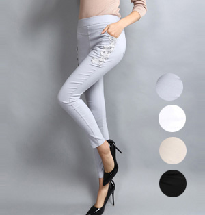 Wholesale leggings lace trim